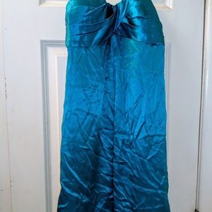 Cache Dresses - Gorgeous CACHE turquoise SILK DRESS worn for prom